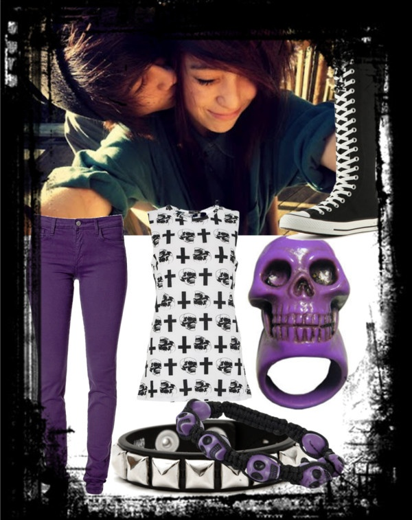 """Untitled #19"" by rizzie23 ❤ liked on Polyvore: Emopunkgoth Stuff"