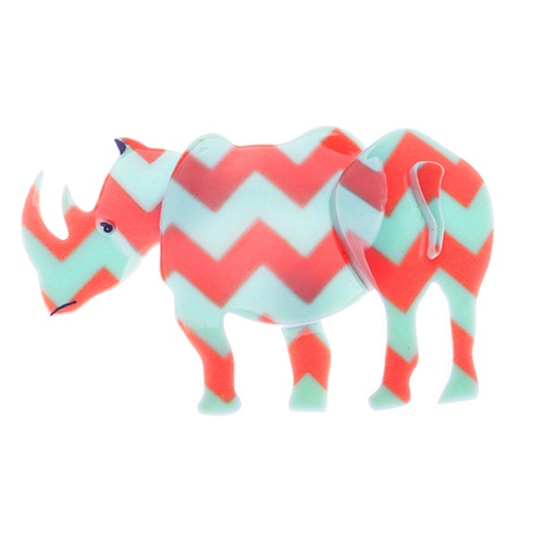 """Rhiannon the Radical Rhino.  With a toss of her head Rhiannon sniffed """"Every rhinoceros is proud of its horn""""."""