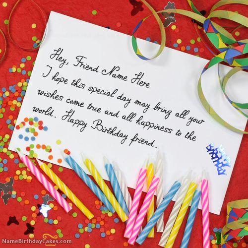 Write Name On Unique Birthday Card