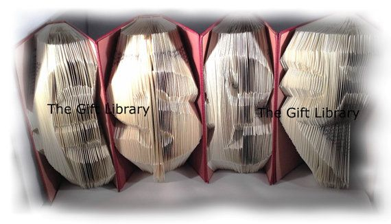 FOLDED BOOK ART  Set of 4 currency symbols. by TheGiftLibrary