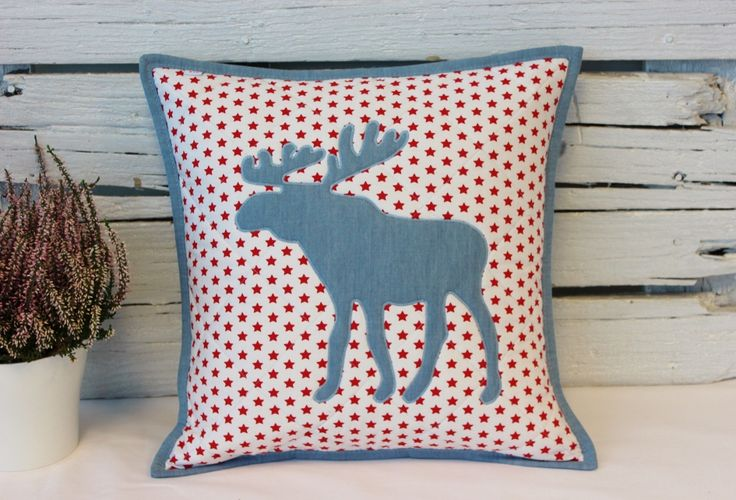 christmas pillow - denim