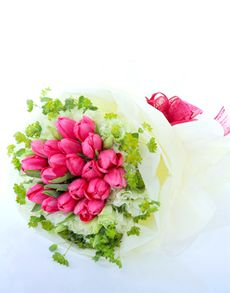 Singapore Flowers: First Blush Tulip Bouquet!