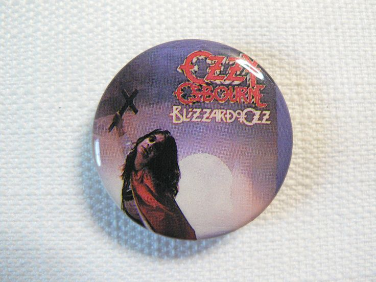 Vintage Early 80s Ozzy Osbourne - Blizzard of Ozz Album (1980) - Pin / Button / Badge by beatbopboom on Etsy