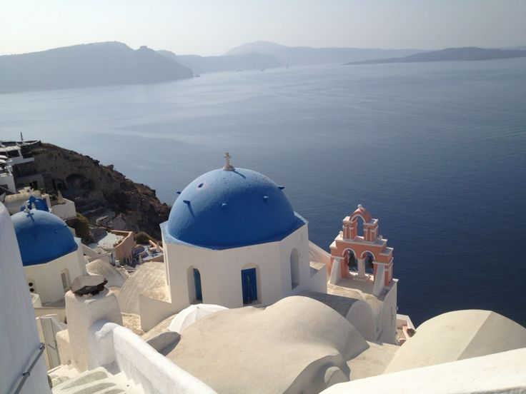 Santorini, Greece is truly one of the most beautiful islands on the face of this Earth.  The weather is fabulous and the water is pristine.  Expensive, but worth the visit. I will definitely go back again some day.