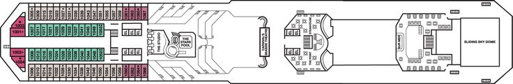 Carnival Conquest Panorama Deck Deck Plan - Carnival Conquest Deck 10 Deck Layout