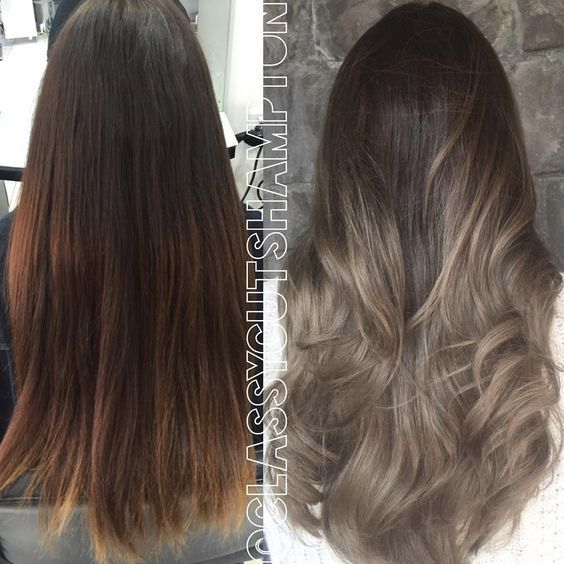 """Full color lift ➕ A LOT of @olaplexau @olaplexau ➕ 6hrs Later we've managed to give Liana a seamless ash beige dark blonde balayage Goodbye Brass!…"":"