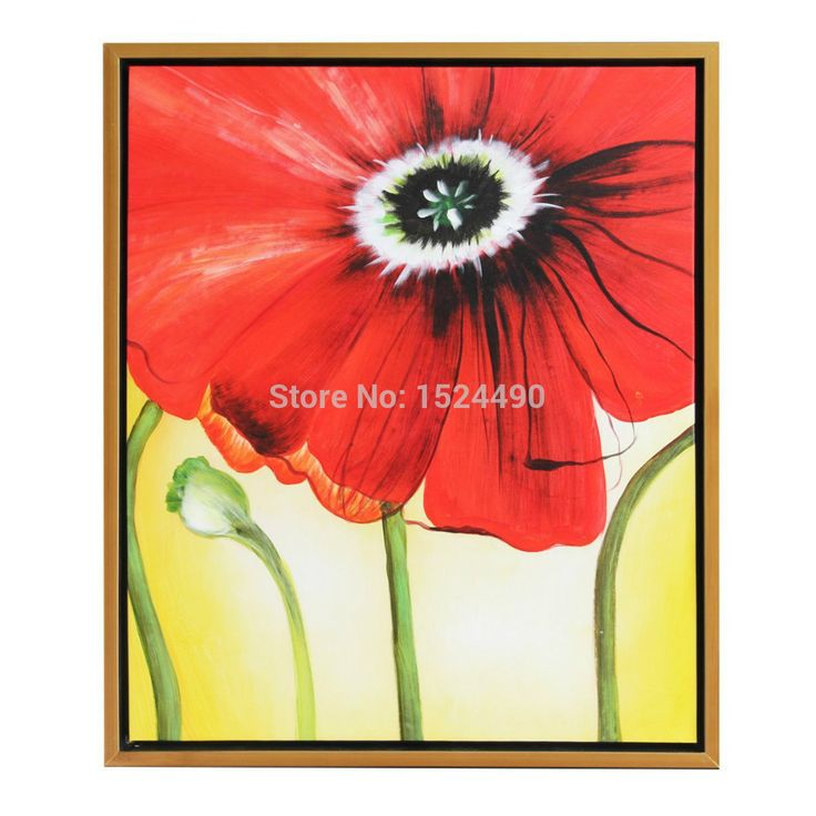 Красный цветок картины большой размер 100% ручной росписью цветы картина маслом аннотация на холсте стены искусстве для домашнего декора купить на AliExpress