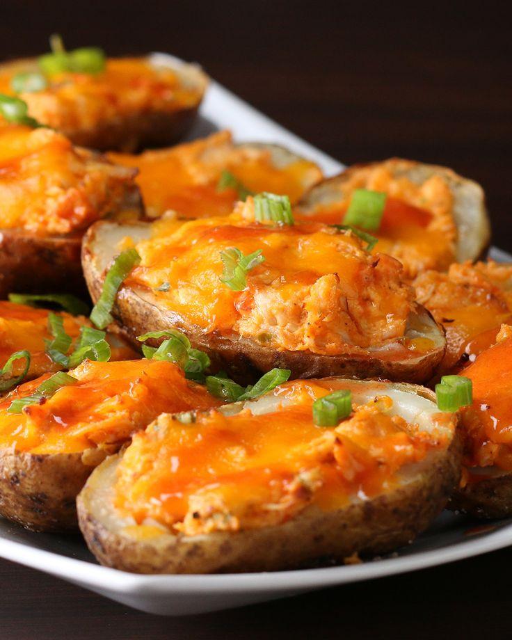 110 best tasty game day images on pinterest spicy chicken stuffed potato skins forumfinder Gallery