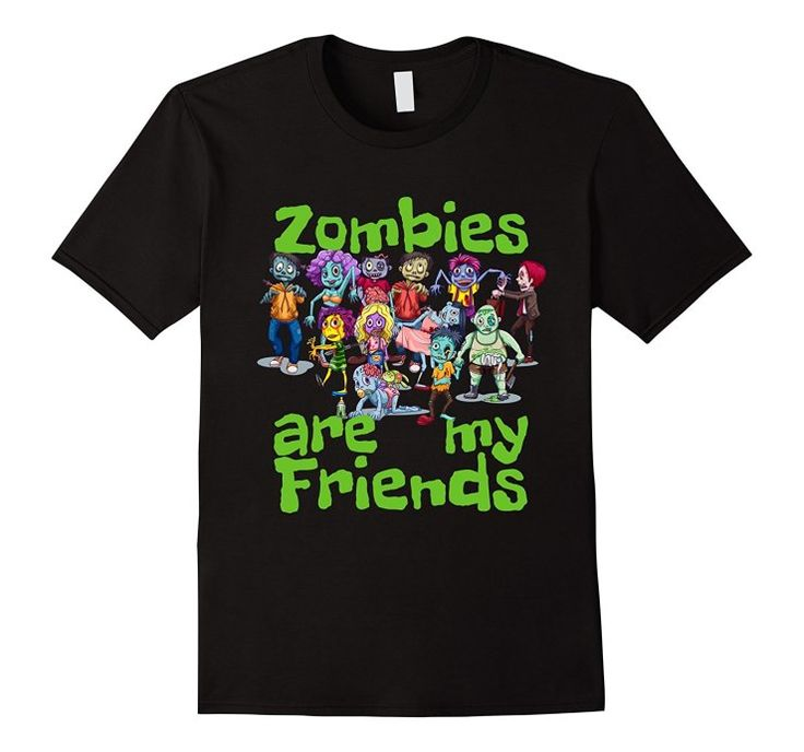 Zombies Are My Friends Halloween T-Shirt - AHazardDesigns: Graphics, T-Shirts & More #tshirt #shirt #tshirts #shirts #halloween #happyhalloween #halloweenmakeup #halloweencostume #halloweenparty #zombie #zombies #plantsvszombies #friends #bestfriends #friendship #goodfriends #instafriends #friendsforever #friendshipgoals #friendsforlife