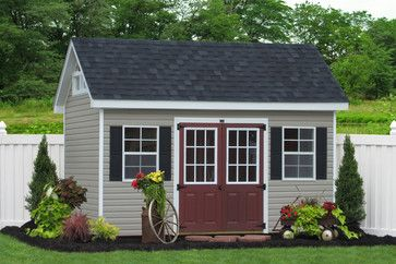 Premier Garden Shed in Vinyl    Buy this 8x14 Garden Shed from the Amish in Lancaster, PA.  Sheds Unlimited, Gap, PA