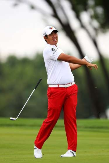 7 best bets, odds and wagers for Olympic Golf  - To medal -- Byeong-Hun An (12/1)  -    Byeong Hun An of South Korea reacts to a shot on the 15th hole during the continuation of the weather delayed first round of the U.S. Open at Oakmont Country Club on June 17, 2016 in Oakmont, Pennsylvania.  -  August 9, 2016