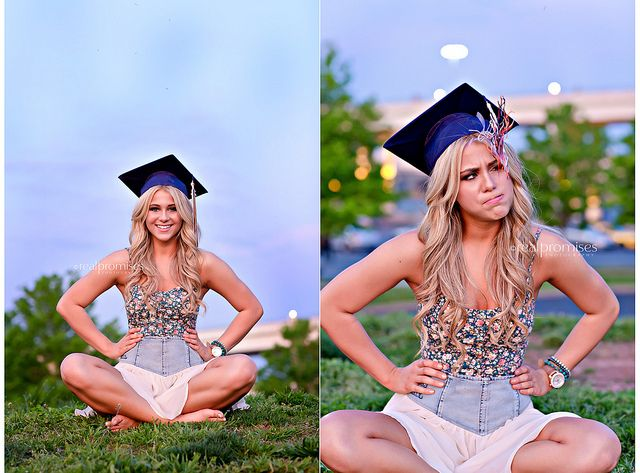 Not crazy about the pose but I love the blowing the tassel out of your face picture.