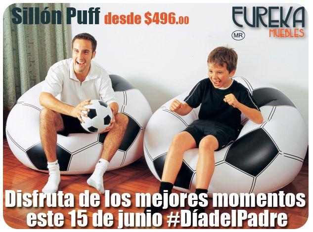 Para el día del Padre este Junio http://www.eurekamuebles.com.mx/sofa-camas/puffs/sillon-puff-zen-kids.html