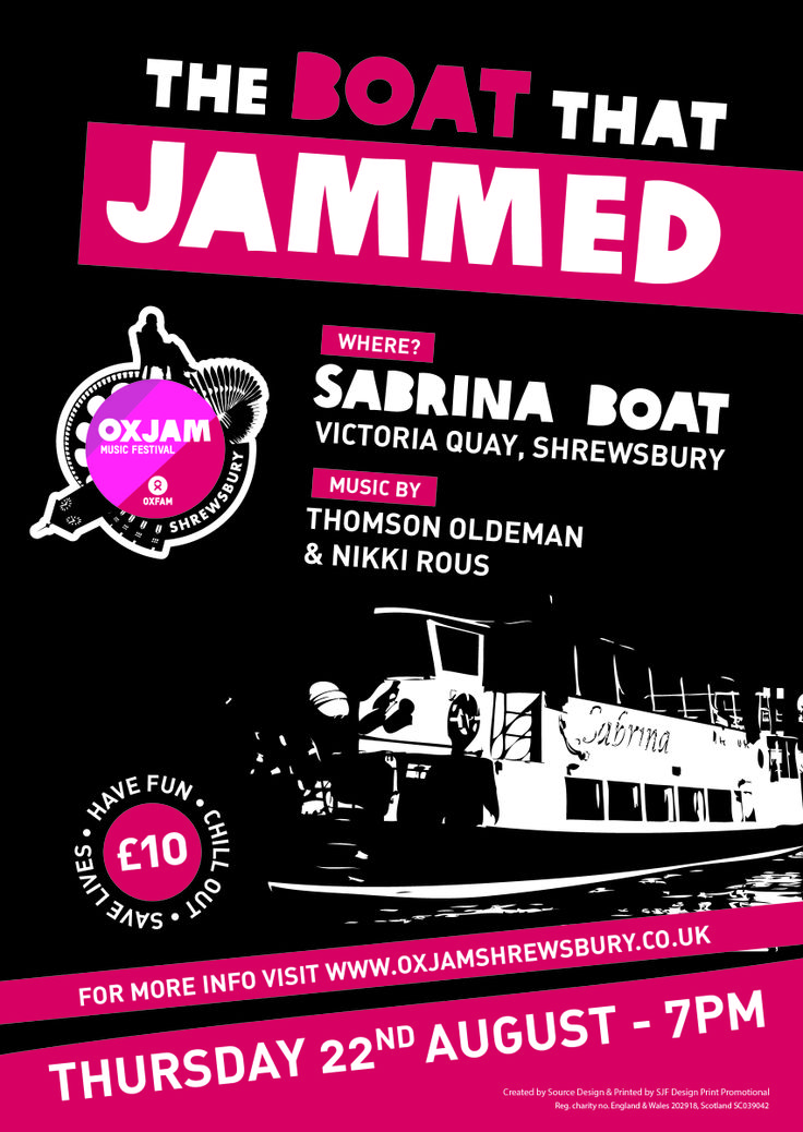 OXJAM - The Boat That Jammed, Event poster