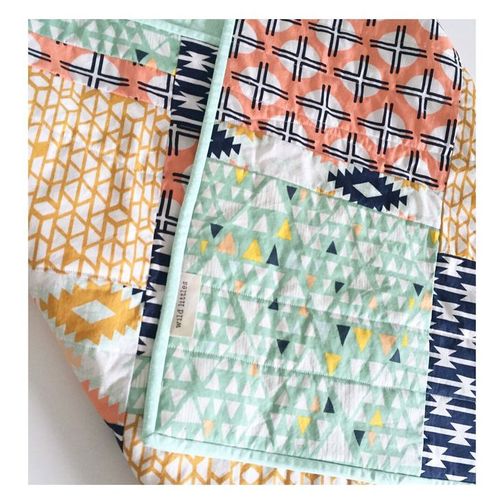 modern baby quiltmodern toddler quiltbaby quilt blanket geometric tribal
