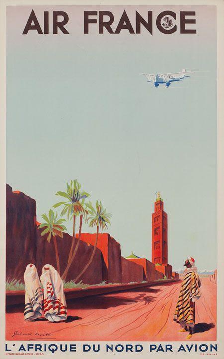 North Africa ~ Vintage Travel Poster http://aviatstudios.com/wp-content/uploads/2011/03/postImage_vintageAirlinePosters_afr1.jpg