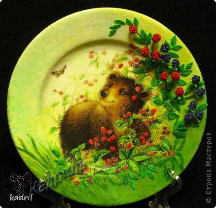 Декор предметов Декупаж Лепка Роспись Старые тарелки - в дело Краска Стекло Фарфор холодный фото 1