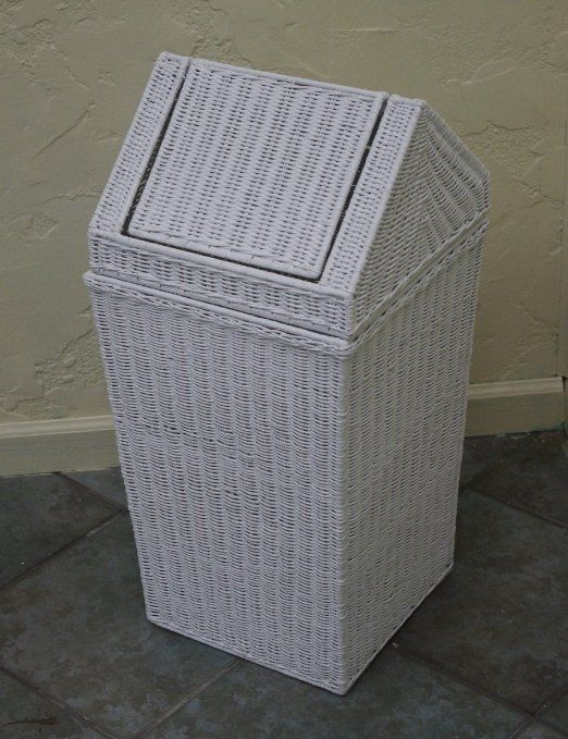 $99 Amazon.com - Old Fashion Classic New White Wicker Slant Basket Hamper - Laundry Hampers