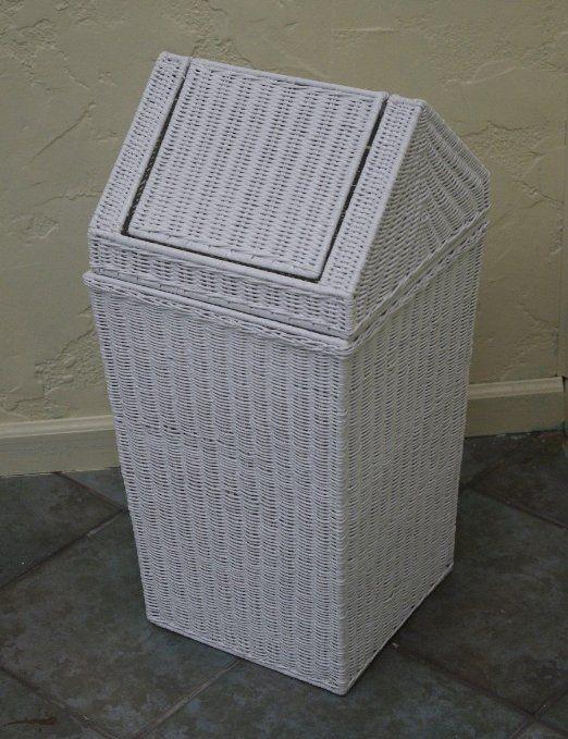 $99 Amazon.com - Old Fashion Classic New White Wicker Slant Basket Hamper - Laundry Hampers