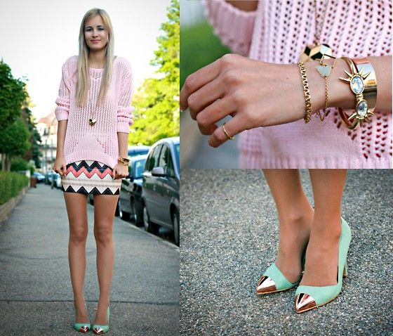 im liking the skirt and the shoes