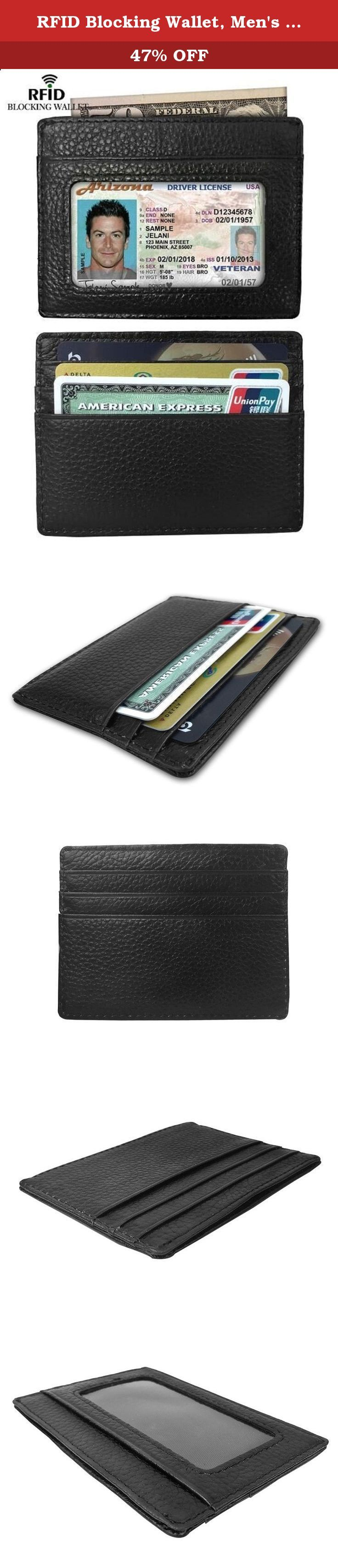 RFID Blocking Wallet, Men's Genuine Leather RFID Blocking Leather Slim Minimalist Money Clip Front Pocket Wallet, Card Holder. What is RFID? RFID: Radio Frequency Identification Denoting technologies that use radio waves to identify people and objects carrying encoded chips. These can include credit card information, passport identification or other forms of ID as well as access cards etc. Why do I choose RFID blocking wallet? With all the concerns about identity theft today and with the...