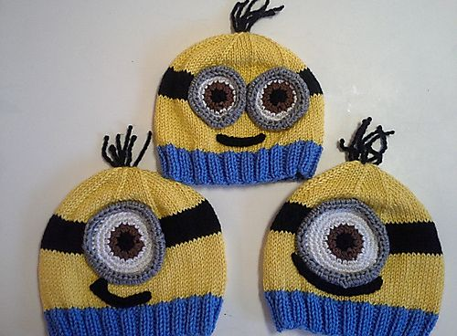 Ravelry: Minion Hats pattern by Lauren Irving Free pattern at http://www.ravelry.com/patterns/library/minion-hats
