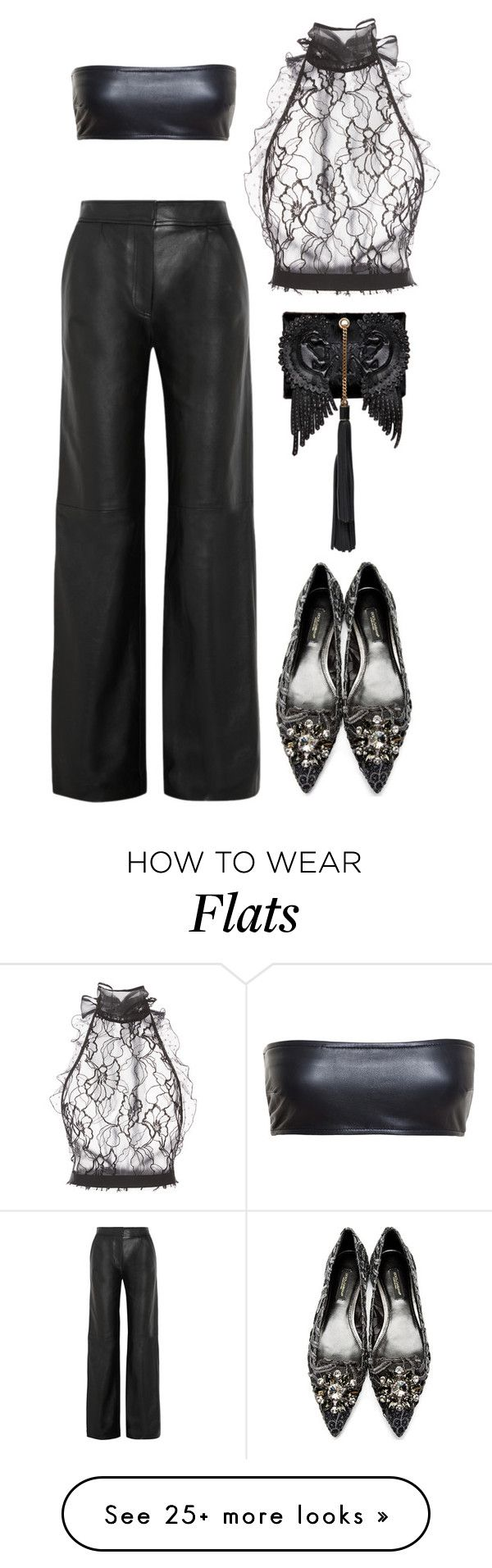 """Anywhere Else"" by silhouetteoflight on Polyvore featuring Oscar de la Renta, ADAM, Love Leather, Dolce&Gabbana and Roberto Cavalli"