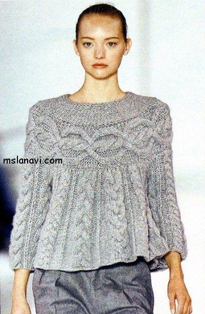 женский вязаный свитер - шамони