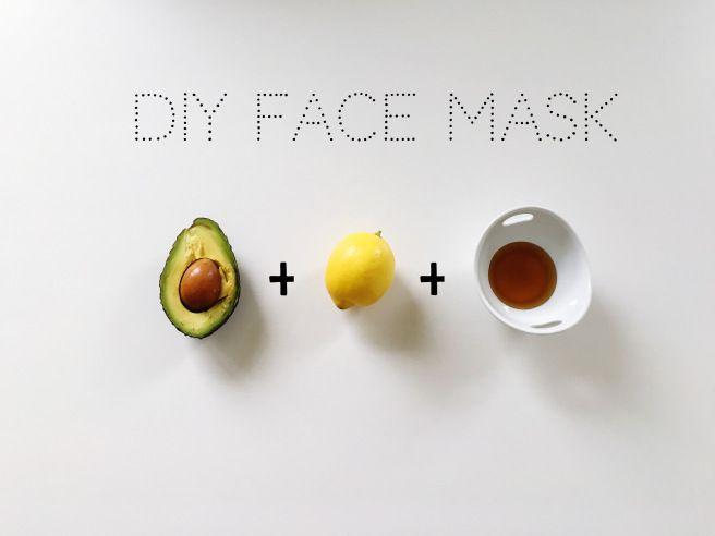 DIY face mask Gesichtsmaske selber machen Avocado Honig Zitrone