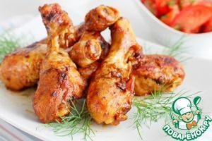 Курица в маринаде из лука, имбиря и соевого соуса