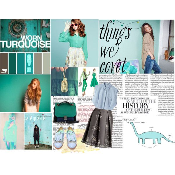 """""""Things We Covet : Turquoise colour!"""" by aninditaa on Polyvore"""