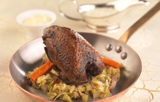 Combining seasonal meat in veg in one winter warmer of a dish!