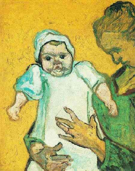 Vincent van Gogh: Mother Roulin with Her Baby. Oil on canvas. Arles: November-December, 1888. New York: The Metropolitan Museum of Art.