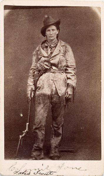 Rare cdv of Martha Jane Cannary, better known as Calamity Jane in her wild days in Deadwood in the 1870s. Friends included Wild Bill Hickok, Colorado Charlie Utter, and Bloody Dick Seymour.