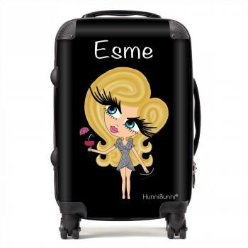 HunniBunni Babes Personalised Black Background Suitcase