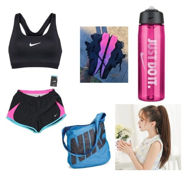 """""""Day before thanksgiving workout"""" by wwefangirl2020 ❤ liked on Polyvore featuring NIKE"""