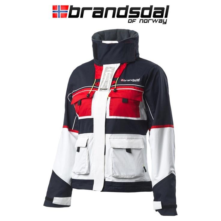 Brandsdal of Norway Seilerjakke Dame Hvit/blå.