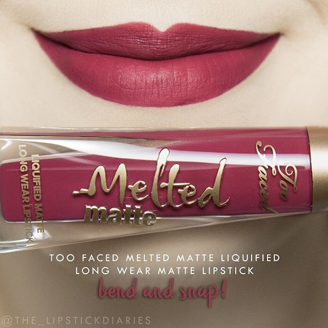Too Faced Melted Matte Liquified Long Wear Matte Lipstick - Bend and Snap! Application - 4 | Pigmentation - 4 | Longevity - 4 | Comfort - 5 | Texture - 4 1/2 | Packaging - 5 | Overall - A- ($21/0.4oz) Again this went on pretty smoothly with nice pigmentation, however I did have to keep dipping the wand back into the tube to pick up more product. It dried down to a transfer proof matte that was comfortable on the lips. After eating lunch it still looked pretty nice, it just faded slightly in…