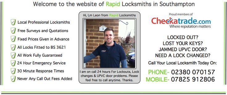 We are local mobile Locksmiths based in Bedford place, Southampton, Hampshire we cover the whole of Southampton including Bitterne, Woolston, Sholing, Lordshill, Thornhill, St Marys, West End, Hedge End, Eastleigh, Portswood, Western, Lordswood, Shirley, Millbrook, Bassett. In an Emergency as local a Southampton Locksmith we can be with you within 20-30 minutes guaranteed.http://www.mylocksmithsouthampton.co.uk