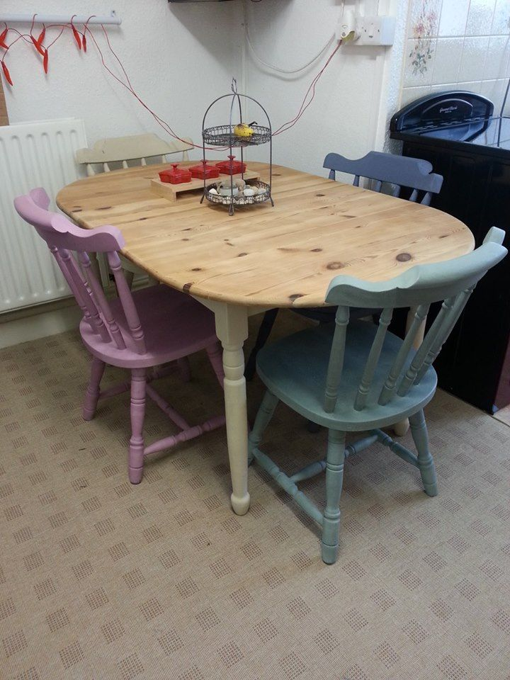 Pine Table and Four Chairs now at home in Thirsk