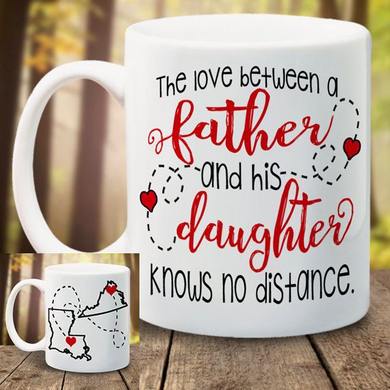 States Mug Fathers Day Mug Never Apart Love by LadyBeeBoutique