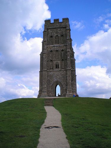 chapel atop Glastonbury Tor, Glastonbury, England
