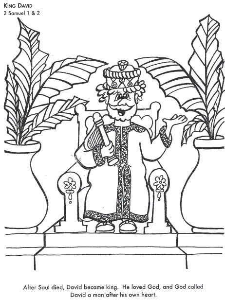 king david coloring page  bible coloring pages coloring