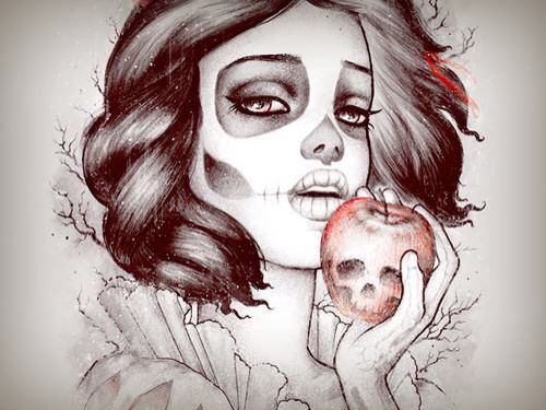 Snow White + Drawing & Sugar Skull +                                                                                                                                                                                 More