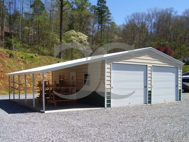 Best Metal Garage With Lean To Vertical Roof 18W X 26L X 9H 400 x 300