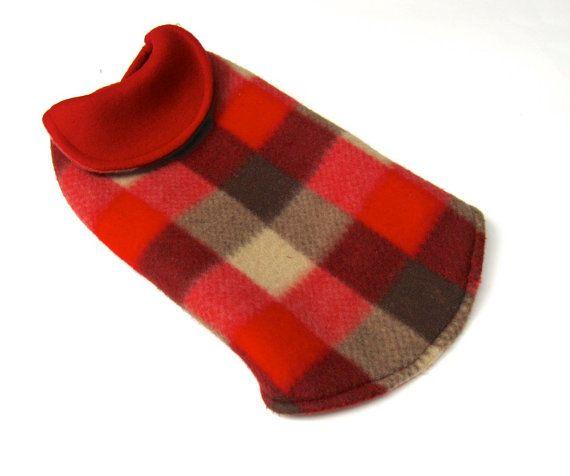manteau pour chien  size small  carreaux par creationsanneclaude