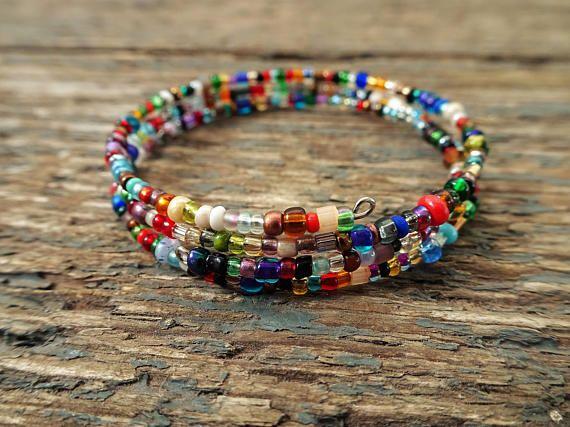 Beaded Bracelet Gift For Her Boho Bracelet Boho Jewelry Etsy Beaded Bracelets Boho Jewelry Bracelets Handmade Beaded