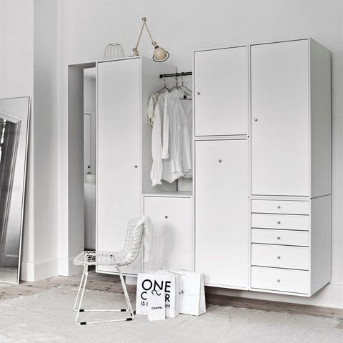 I love that this 'Montana Wardrobe...can also be hung on a load-bearing wall, or even placed on a mobile base with castors.' [Excerpt from post by Aram]