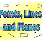 This is a 15 slides Power Point presentation that covers Points, Lines and Planes. It contains the definitions of points, lines and planes with goo...