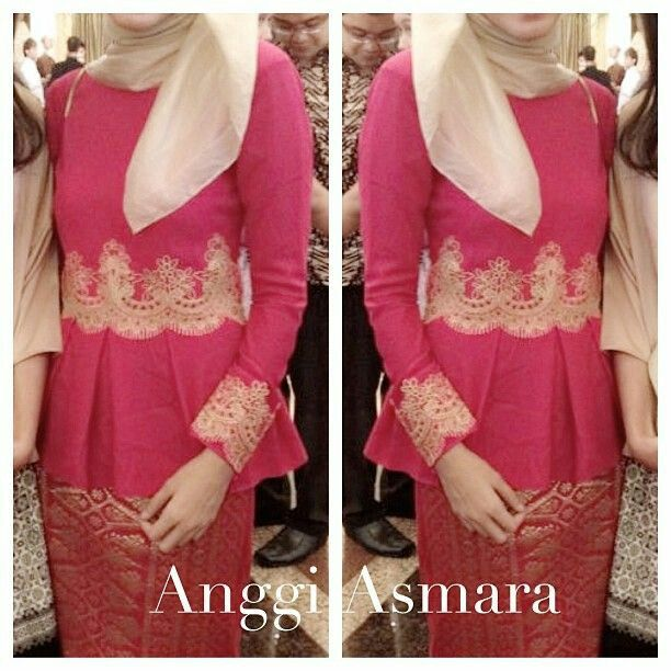 Long dress kebaya brokat